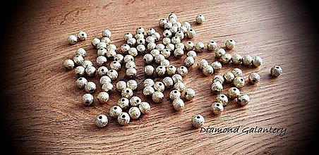 Korálky - Korálka hviezdny prach - 8 mm (Zlatá) - 11487686_