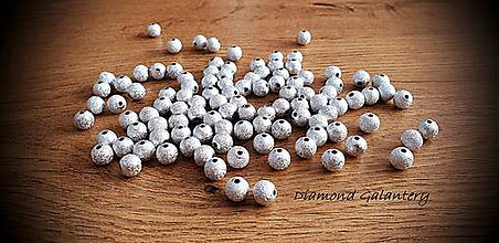 Korálky - Korálka hviezdny prach - 8 mm (Strieborná) - 11487687_