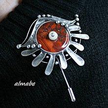 Odznaky/Brošne - Brožový špendlík - jaspis červený - 11487474_