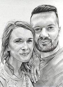 """Obrazy - Maľba pastelom """"Dvojica"""" - 11486392_"""