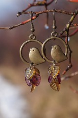 Náušnice - Náušnice - Vtáky v tŕní - 11488041_