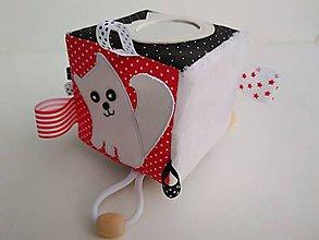 Hračky - Mačička - didaktická kocka - 11488023_