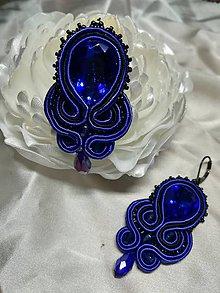Náušnice - Sujtaškové náušnice modré - 11487354_