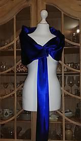 štóla k spoločenským šatám 180cm -kráľovská modrá