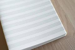 Papier - Notový papier v dvojhárkoch - 11486382_