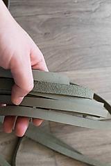 Zbytkové kožené šnúrky sivý nubuk