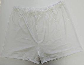 Oblečenie - 3 ks biele pánske trenky bambus - 11486682_