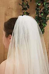 Svadobný závoj ivory/ prírodná biela