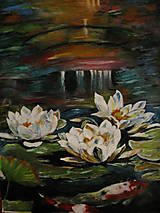 Obrazy - Podvečerné lekná - 11487171_