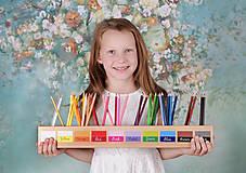 Detské doplnky - Stojan na pastelky - anglický jazyk písané písmo, alebo tlačené - 11486355_