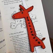 Knihy - záložka do knihy žirafa - 11487067_