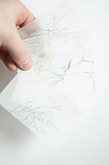 Papier - Transparentný set háročkov - 11488019_