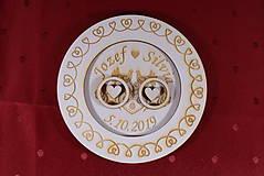 Prstene - Drevený podnos vankúšik na obrúčky gravirovaný 8 - 11485500_