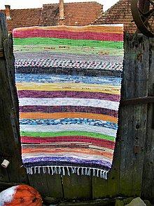 Úžitkový textil - Tkaný koberec pestrofarebný 11 - 11487071_