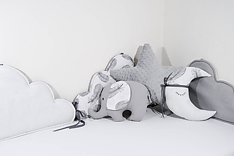 Textil - Mantinel do postieľky obláčiky - 11489808_