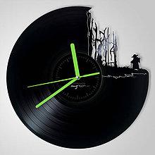 Hodiny - Star Wars Yoda on Dagobah - vinylové hodiny (vinyl clocks) - 11489537_