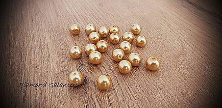 Korálky - Perličky zlaté (10 mm) - 11490663_