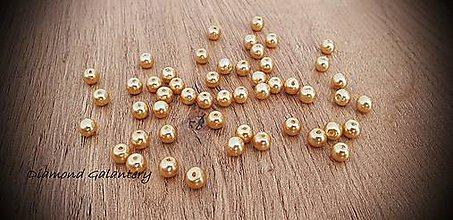Korálky - Perličky zlaté (6 mm) - 11490666_