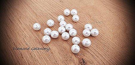 Korálky - Perličky biele (10 mm) - 11490671_