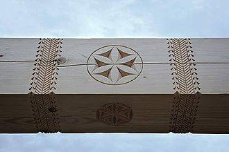 Dekorácie - Zdobený stropný trám - 11488903_