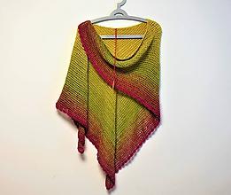 Šatky - Háčkovaný šátek XXL 2115 - 11490413_