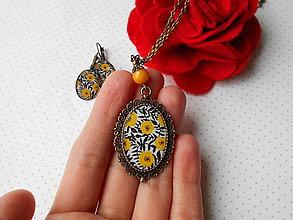 Sady šperkov - Slnkom pobozkané kvietky - 11490867_