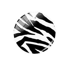 Komponenty - Kabošon sklenený zebra 12 mm  (II.) - 11490884_