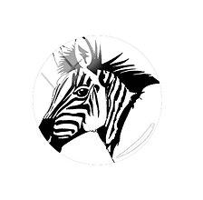 Komponenty - Kabošon sklenený zebra 12 mm  (III.) - 11490885_