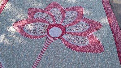 Textil - Deka s kvetinou - 11489002_