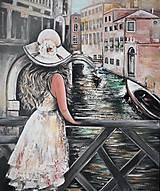Obrazy - Dáma v Benátkach - 11489694_