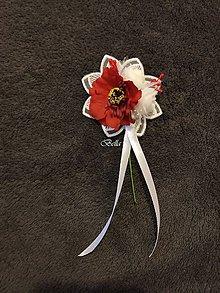 Pierka - Červené pierko s divým makom pre rodičov - 11488490_