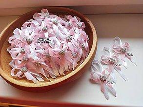 Pierka - Jemné elegantné ružové pierka pre hostí - 11490733_