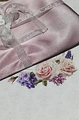 štóla k spoločenským šatám 180cm -fialová púdrová
