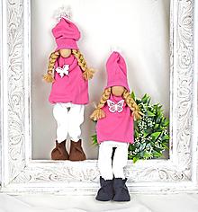 Bábiky - Bábika ružová - 11490385_