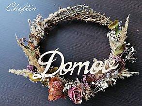 Dekorácie - Venček na dvere so sušenými kvetmi - 11490840_