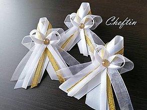 Pierka - Veľké pierka pre svadobčanov - zlatý lurex - 11490854_