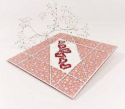 Papiernictvo - Puto lásky - folk vyšívaný pozdrav - 11489611_
