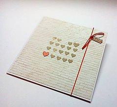 Papiernictvo - Pohľadnica ... múr lásky - 11493298_