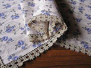 Úžitkový textil - *** Modré ružičky - prestieranie *** - 11492531_