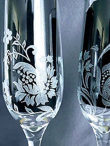 Nádoby - Svadobné poháre exkluziv - 11491241_