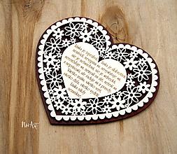 Tabuľky - Svadobné srdce LÁSKA, svadobný sľub - 11493342_