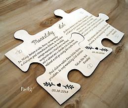 Tabuľky - Svadobný sľub, PUZZLE - 11493569_