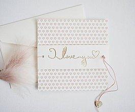 Papiernictvo - Valentínka - ružové srdiečka - 11493169_
