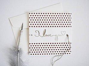 Papiernictvo - Valentínka - červené srdiečka - 11493172_