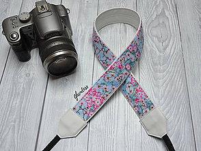 Iné doplnky - Popruh na fotoaparát - Flowery sky - 11492836_