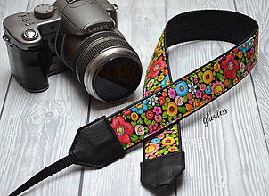 Iné doplnky - Popruh na fotoaparát - Garden II - 11492858_