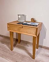 Nábytok - Nočný stolík z masívu - 11494078_