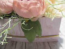 Dekorácie - Romantický Flower box - 11493708_
