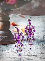 Náušnice - Frozen plesové náušnice Anna - 11493588_