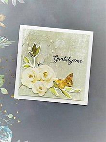 Papiernictvo - Svadobná pohľadnica - 11492368_